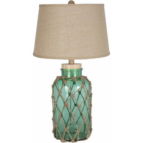 Amalfi Nautical Glass Burlap Table Lamp