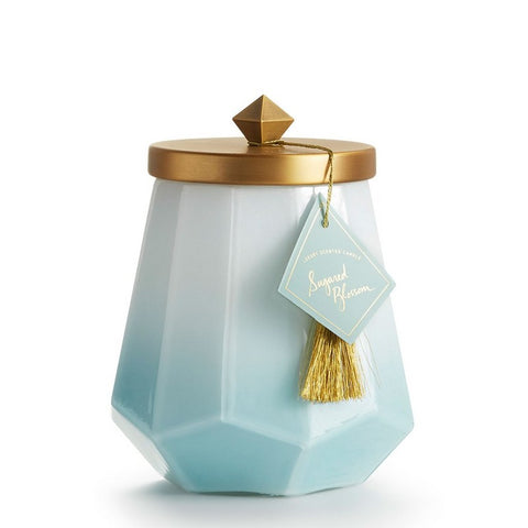 Large Ombre Glass Jar Candle in Sugared Blossom