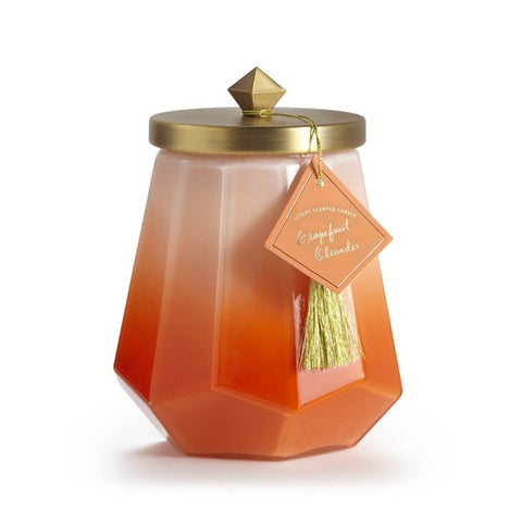Large Ombre Glass Jar Candle in Grapefruit Oleander