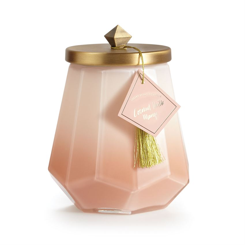Large Ombre Glass Jar Candle in Coco Milk Mango