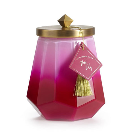 Large Ombre Glass Jar Candle in Thai Lily