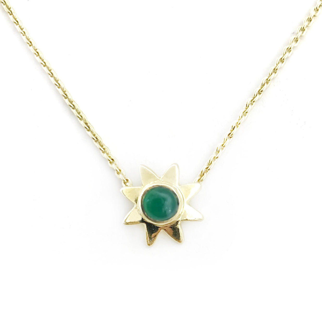 Starr Genuine Gemstone Pendant Necklaces-Women - Jewelry - Necklaces-ADDISON WEEKS-Emerald-Peccadilly