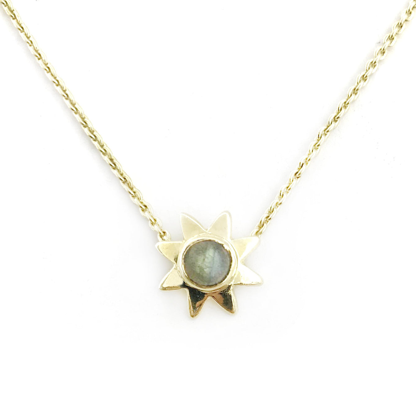 Starr Genuine Gemstone Pendant Necklaces-Women - Jewelry - Necklaces-ADDISON WEEKS-Labradorite-Peccadilly