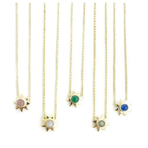 Starr Genuine Gemstone Pendant Necklaces