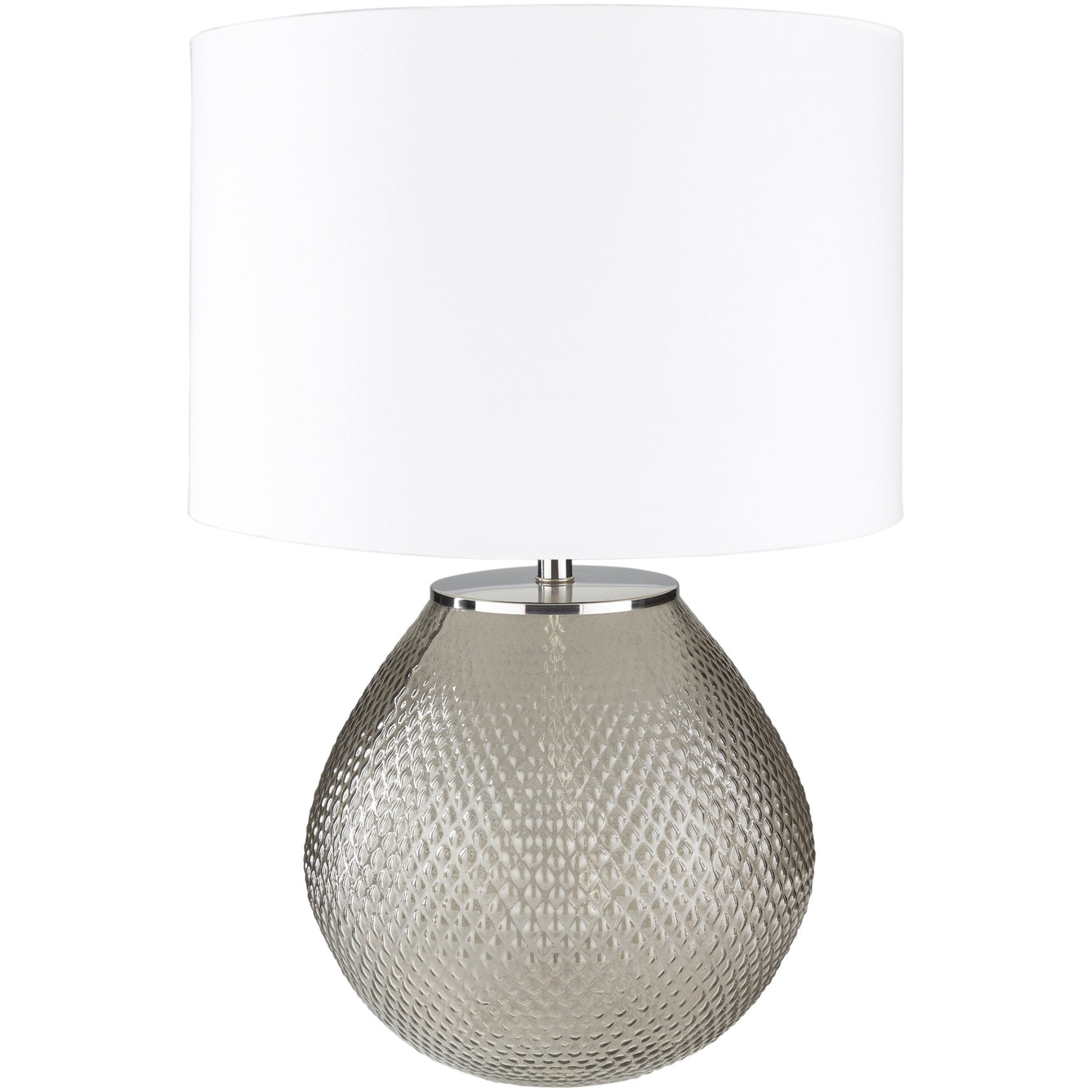 Arlo Glazed Glass Table Lamp-SURYA-Taupe-Peccadilly