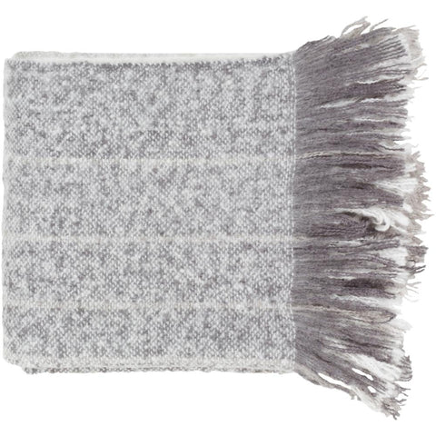 Arrah 50 x 60 Woven Throw Blanket in Grey and White