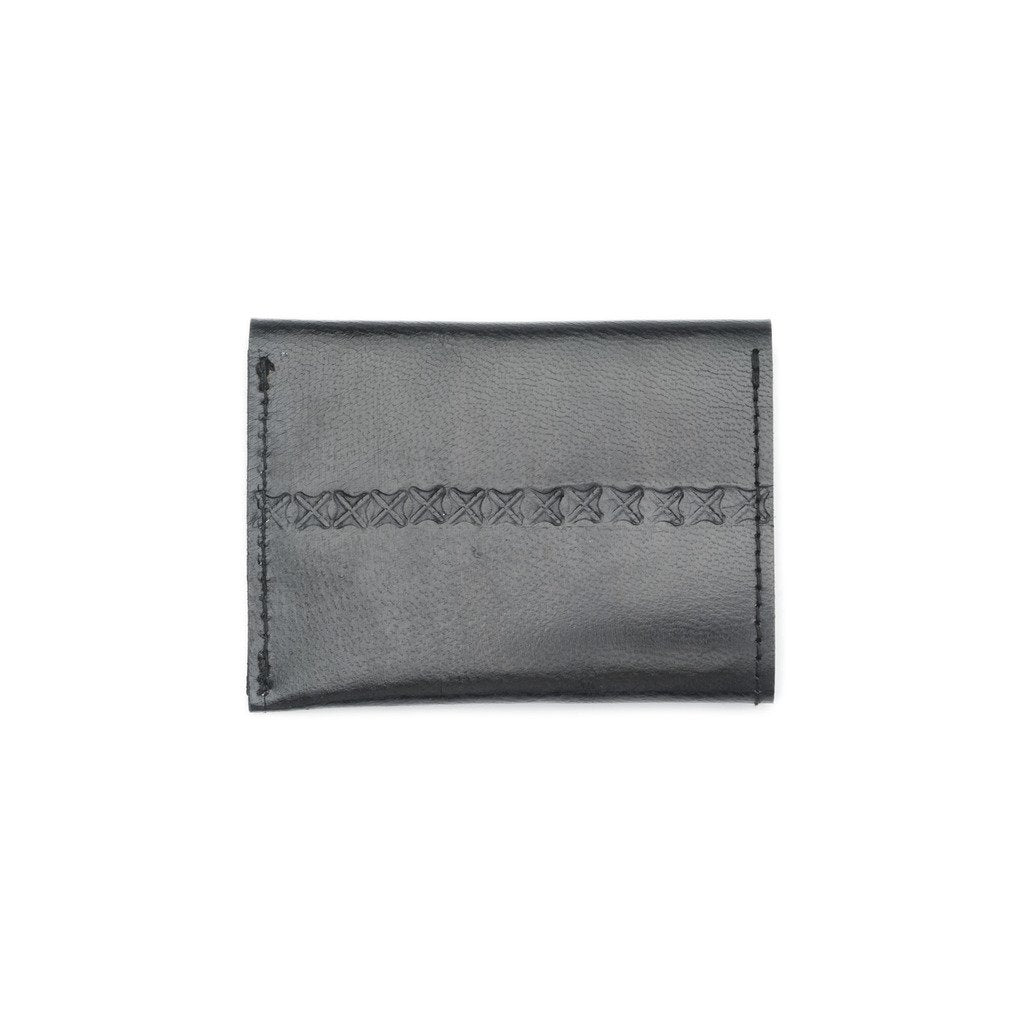 Sustainable Leather Black Fair Trade Wallet-Men - Accessories - Wallets + Card Cases-MATR BOOMIE FAIR TRADE-Peccadilly