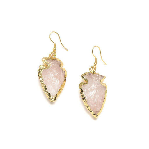 Abbakka Arrowhead Rose Earrings