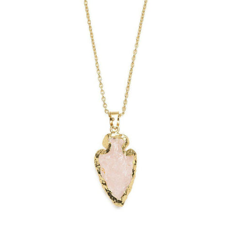 Abbakka Arrowhead Rose Necklace
