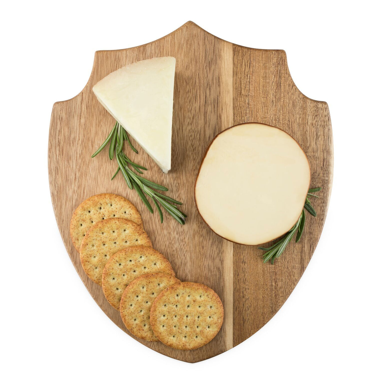 Acacia Wood Shield Cheese Board-Home - Entertaining - Cheese + Appetizer Serving-FOSTER AND RYE-Peccadilly