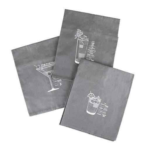 Admiral Bar Cart Cocktail Towels-Home - Entertaining - Bar Towels-VISKI-Peccadilly