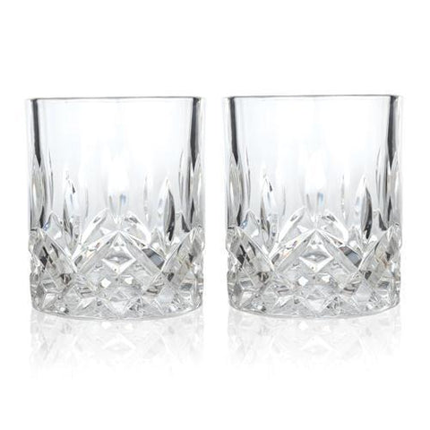 Admiral Faceted Crystal Tumblers Set of 2