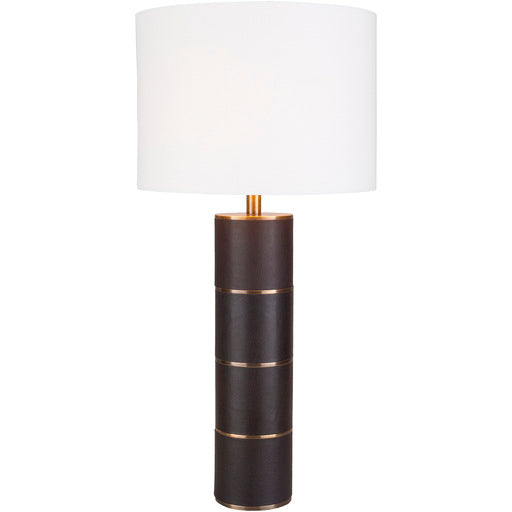 Andrews Antique Leather Column Table Lamp-SURYA-Peccadilly