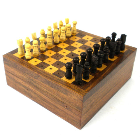 Travel Chess Game Wood Fair Trade