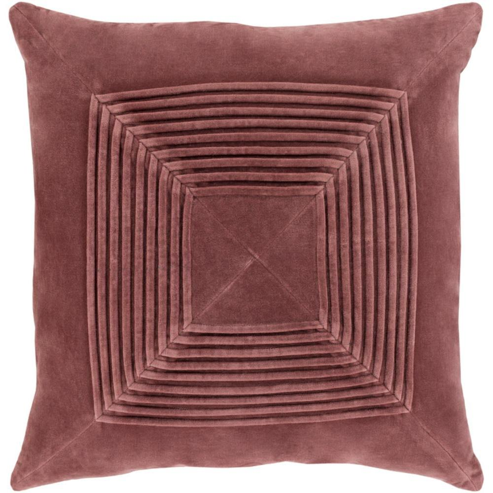 Akira Velvet Pleated Pillow-Home - Accessories - Pillows-SURYA-Clay-Peccadilly
