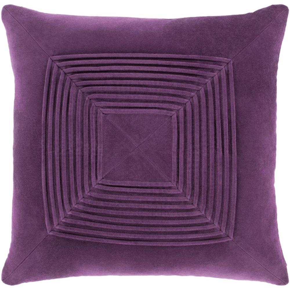 Akira Velvet Pleated Pillow-Home - Accessories - Pillows-SURYA-Dark Purple-Peccadilly