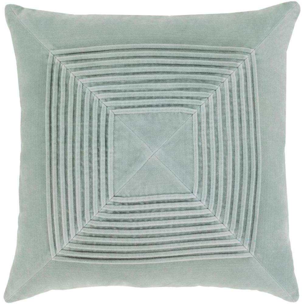 Akira Velvet Pleated Pillow-Home - Accessories - Pillows-SURYA-Ice Blue-Peccadilly