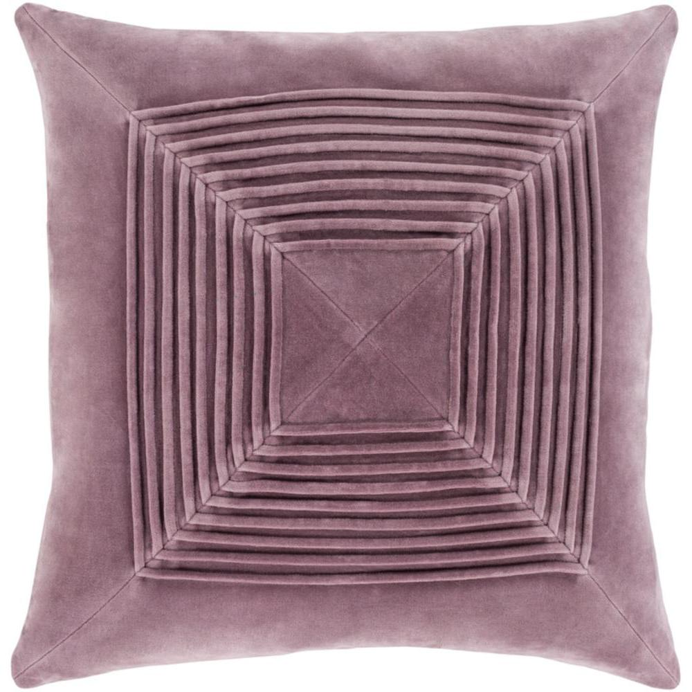 Akira Velvet Pleated Pillow-Home - Accessories - Pillows-SURYA-Mauve-Peccadilly