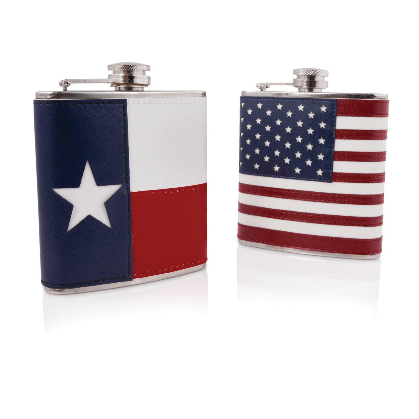 Patriotic 6 oz. Stainless Steel Flasks-Home - Travel + Outdoors - Flasks + Growlers-FOSTER AND RYE-American Flag-Peccadilly