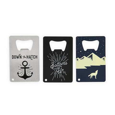 Assorted Card Bottle Openers Set of 3