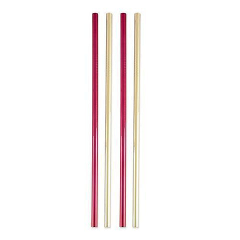 Assorted Stainless Steel Cocktail Straws