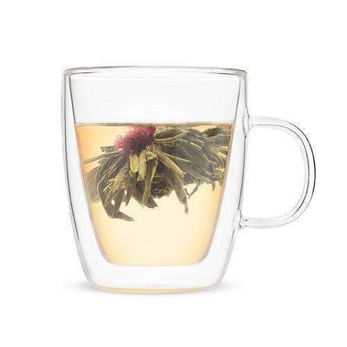 Avery Double Walled Glass Tea Mug-Home - Coffee + Tea - Mugs + Infuser-PINKY UP-Peccadilly