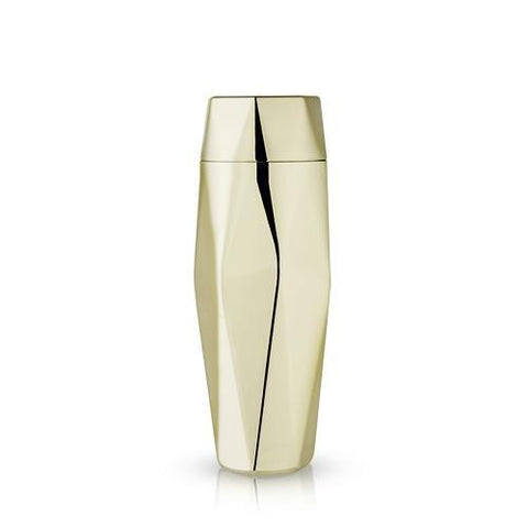 Belmont Apex Faceted Gold Cocktail Shaker