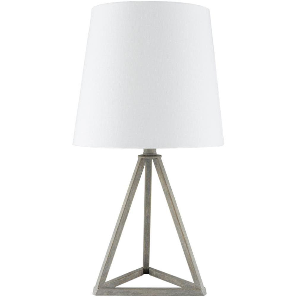 Belmont Triangle Table Lamp-Home - Lighting - Table Lamps-SURYA-White Wash-Peccadilly