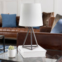 Belmont Triangle Table Lamp-Home - Lighting - Table Lamps-SURYA-Bronze-Peccadilly