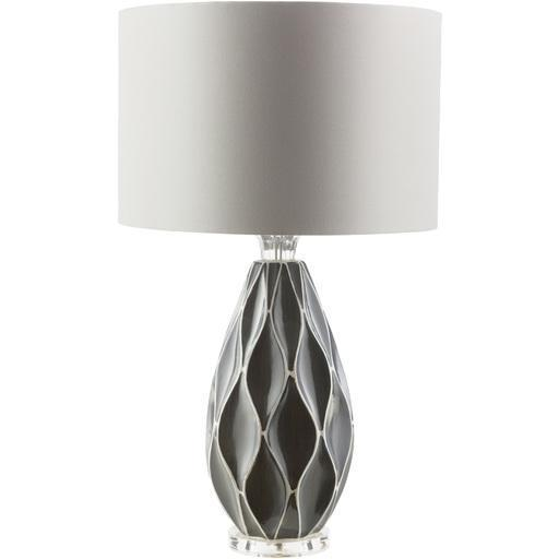 Bethany 27.5 x 16 x 16 Table Lamp-Home - Lighting - Table Lamps-SURYA-Grey-Peccadilly