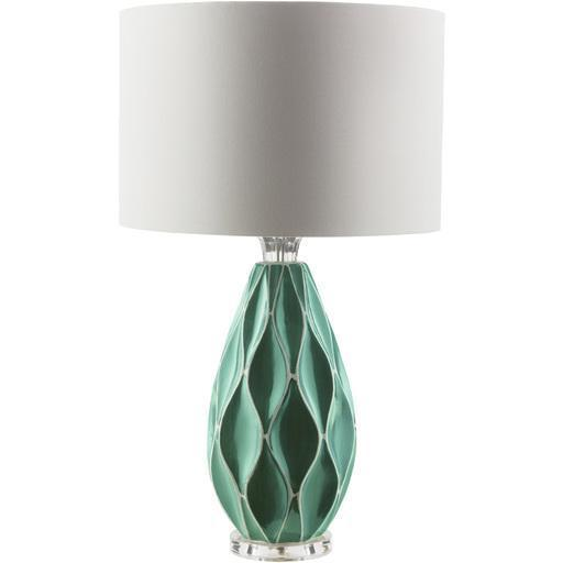Bethany 27.5 x 16 x 16 Table Lamp-Home - Lighting - Table Lamps-SURYA-Teal-Peccadilly