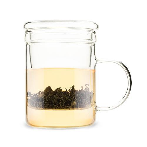 Blake Glass Tea Infuser Mug-Home - Coffee + Tea - Mugs + Infuser-PINKY UP-Peccadilly