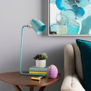 Blaze Contemporary Task Table Lamp-SURYA-Aqua-Peccadilly