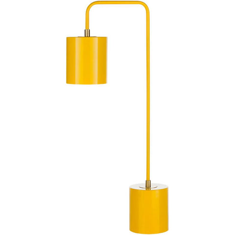 Boomer Contemporary Yellow Metal Table Lamp