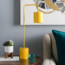 Boomer Contemporary Yellow Metal Table Lamp-Home - Lighting - Table Lamps-SURYA-Peccadilly