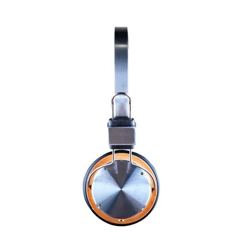 Brushed Aluminum Statement Headphones in Full Moon