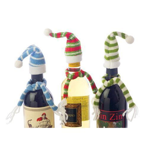 Bundled Scarves Wine Bottle Topper Set