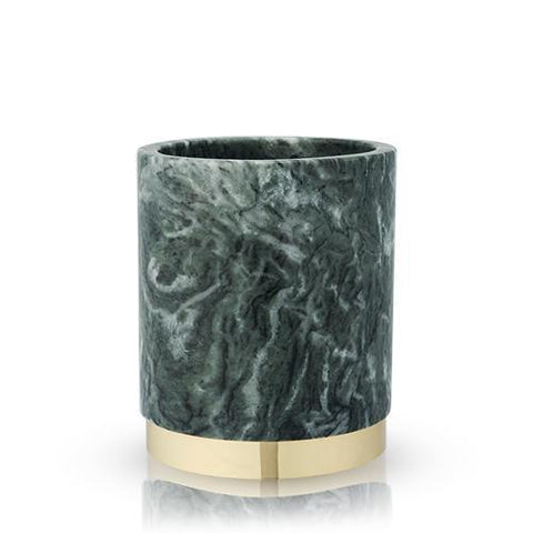 Burke Emerald Marble & Gold Wine Chiller
