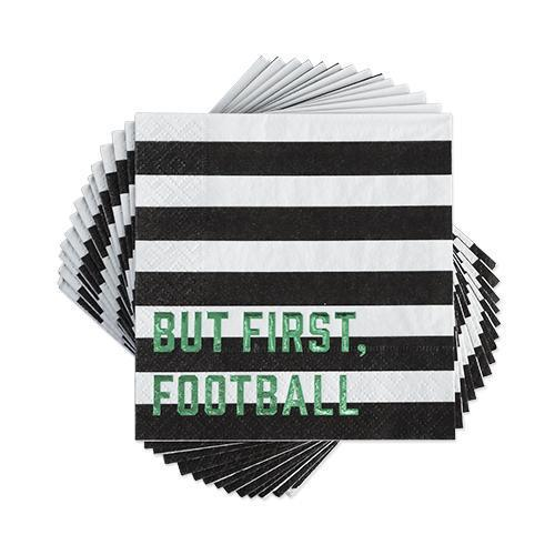 But First, Football Appetizer Napkins Set-Home - Party Supplies - Disposable Napkins-CAKEWALK-Peccadilly