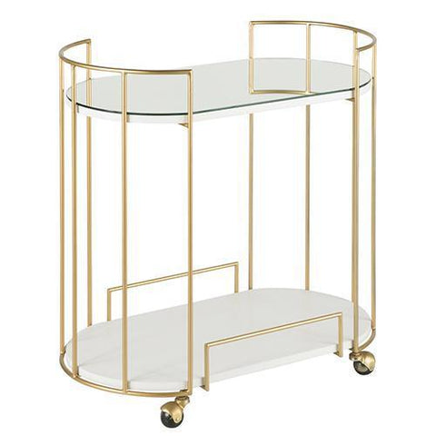 Canary Bar Cart in Gold and Mirror