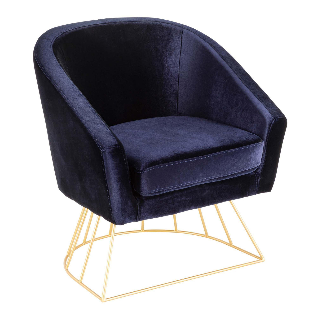 Canary Velvet Tub Club Chair in Deep Blue  sc 1 st  Peccadilly & Canary Velvet Tub Club Chair in Deep Blue | LUMISOURCE | Home ...
