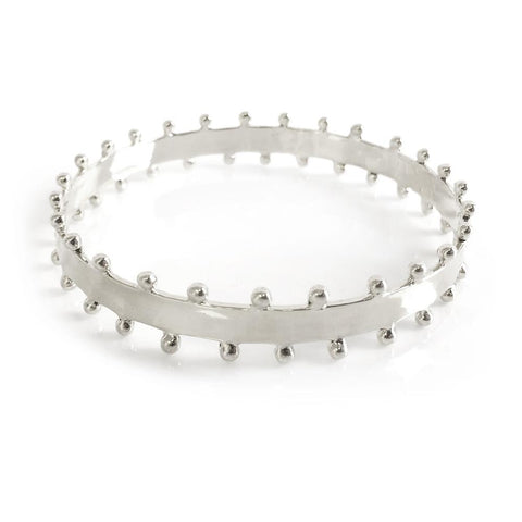 Carter Thin Silver Bangle