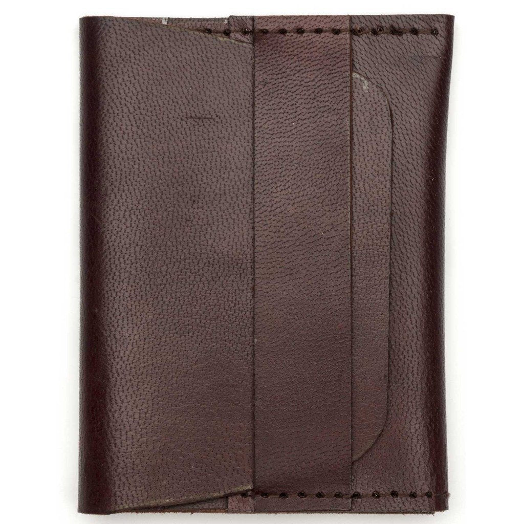 Sustainable Brown Leather Wallet Fair Trade-Men - Accessories - Wallets + Card Cases-MATR BOOMIE FAIR TRADE-Peccadilly