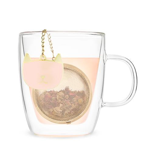 Stainless Steel Charmed Tea Ball Infusers-Home - Coffee + Tea - Infusers-PINKY UP-Pink Cat-Peccadilly