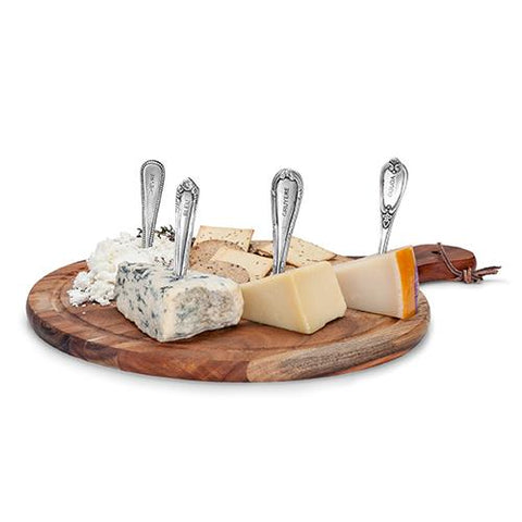 Chateau Antique Pewter Cheese Markers