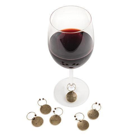 Chateau Varietal Metal Wine Charms