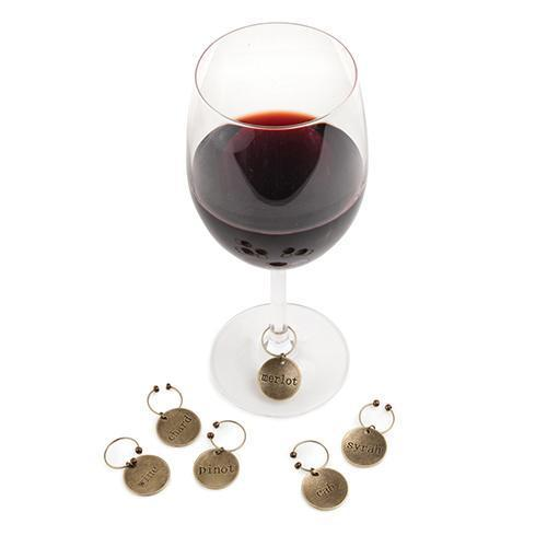 Chateau Varietal Metal Wine Charms-TWINE-Peccadilly