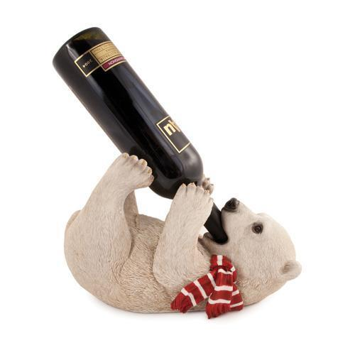 Polar Bear Cub Wine Bottle Holder-Home - Decor - Bottle Holders - Holiday-TRUE-Peccadilly