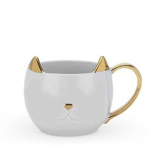 Chloe Cat Ear Ceramic Tea and Coffee Mugs-Home - Coffee + Tea - Mugs-PINKY UP-Grey-Peccadilly