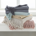 Chantel Silk Cashmere Woven Throw Blanket in Blush-Home - Accessories - Throw Blankets-SURYA-Peccadilly